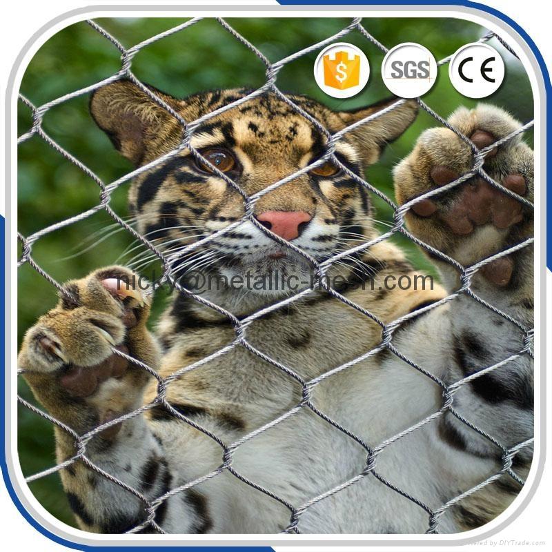 動物園專用鋼絲繩圍網 1