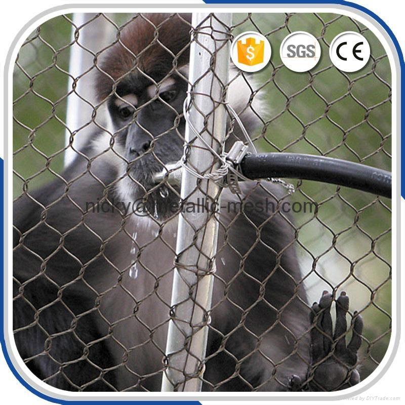 動物園專用鋼絲繩圍網 2