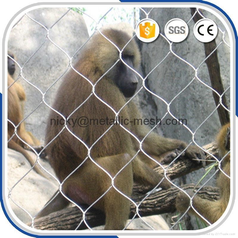 動物園專用鋼絲繩圍網 5