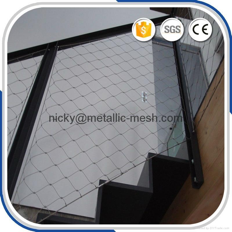 楼梯栏杆不锈钢丝绳编织网 1
