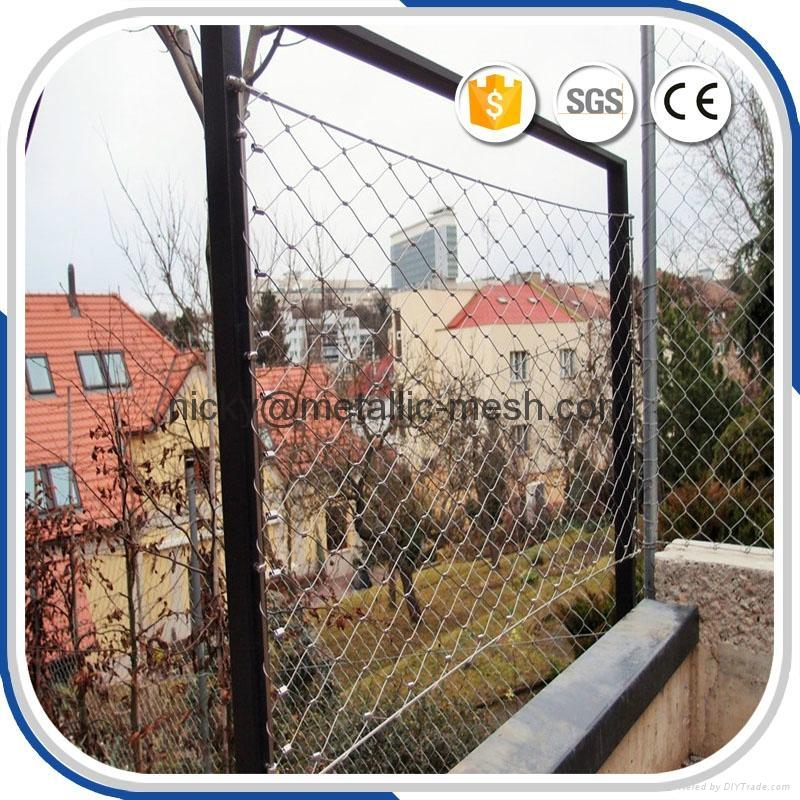 楼梯栏杆不锈钢丝绳编织网 5