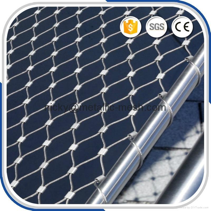 不锈钢钢丝绳防护网 2