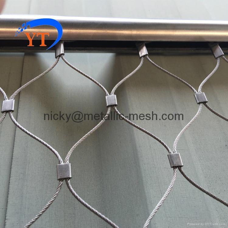 装饰防护钢丝绳编织网 1