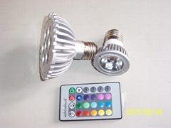 remote control color LED bulb