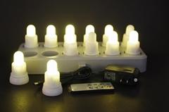 感应充电LED蜡烛灯