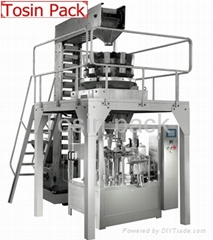 Solid food pouch filling machine