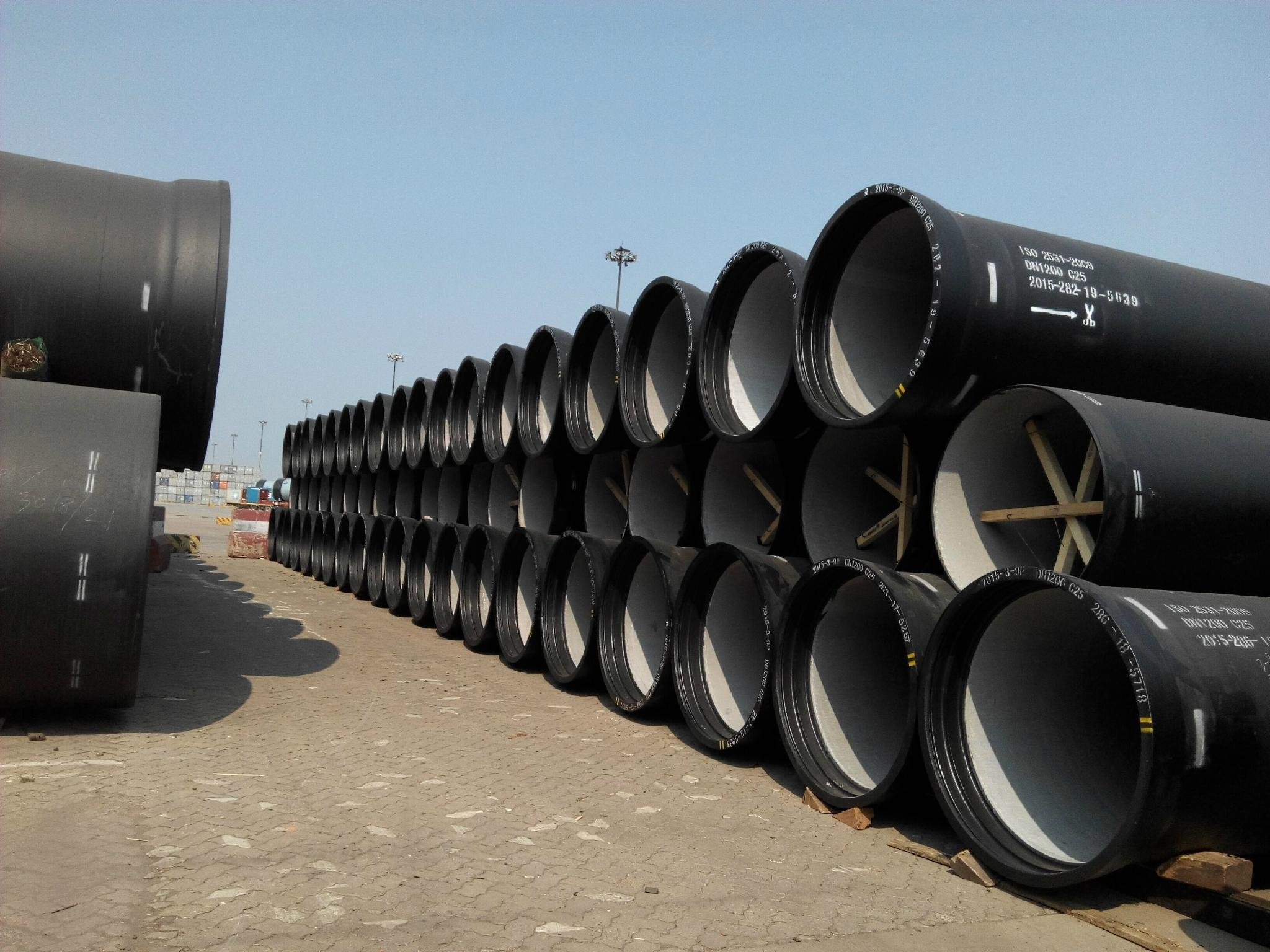 Iso ductile iron water pipeline dn