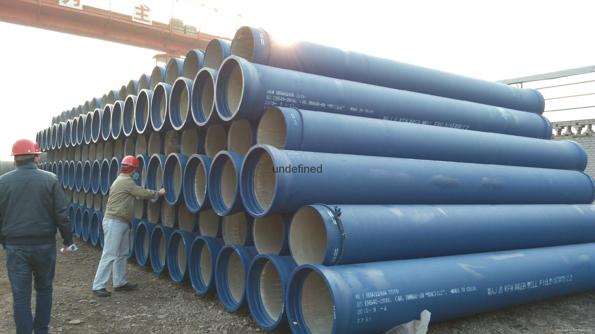 Cement lined ductile iron pipes en iso