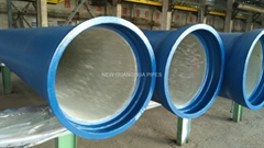Blue epoxy coated Ductile Iron Pipes