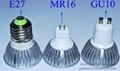 3W E27 GU10 LED spot lamp cup 2