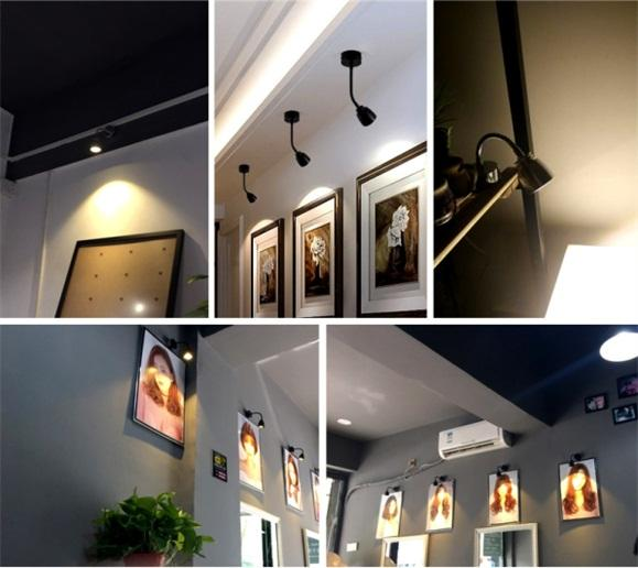 3W bendable LED wall spot lamp with switch for showroom 5
