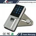 2015 joney Professional Manufacturer indoor fingerprint door lock for glass door 1