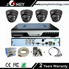 AHD camera kit support 4ch HD AHD DVR security camera