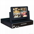 All-in-one 4ch nvr with monitor