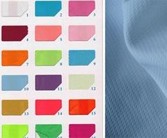 100% polyester DTY yellow wicking dry bird eye mesh fabric