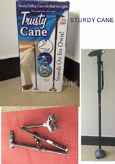 trusty cane sturdy,folding cane with built-in lights as seen on TV