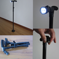 6 LED Folding Adjustable Waking Stick