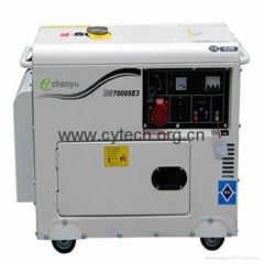 single or three phase digital panel silent diesel generator set