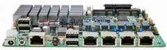 4 Ethernet Ports Motherboard,J1900 Fanless Quad-Core Motherboard