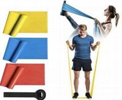Latex Free Yoga Equipment Training Resistance Pilates Bands TPE Yoga Band
