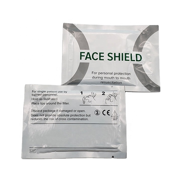 Disposable Emergency free breathing barrier CPR shield/CPR Face Shield/CPR Mask 3