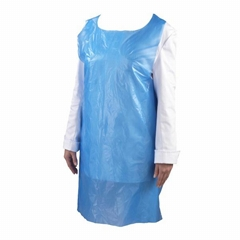 Customized Blue color Disposable Apron Waterproof Protection kitchen apron