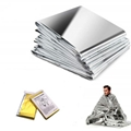 Outdoor si  er gold pet material thermal emergency blanket first aid survival 2