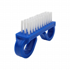 ail Care Plastic beauty easy carry Nail Brush, Blue Handle, White Nylon Bristles