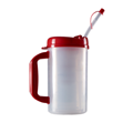 Medical Plastic Insulated Cup clear Insulated Graduated Carafe with straw  4
