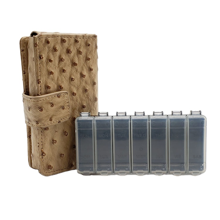 Pill  Box Wallet  with PU Leather bag
