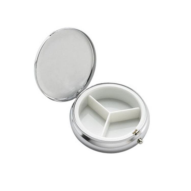 3 Days Metal Pill box/Pill Case/Medicine Pill Organizer with Mirror  5