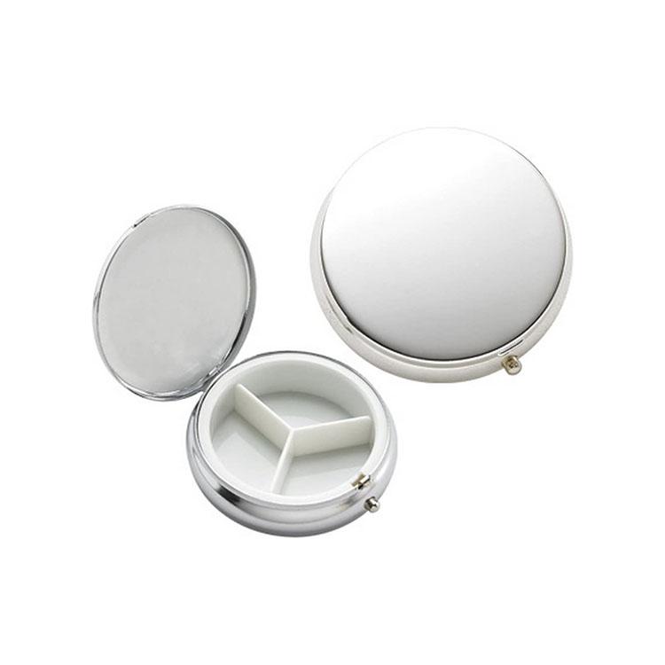 3 Days Metal Pill box/Pill Case/Medicine Pill Organizer with Mirror  1