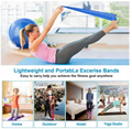 Big Rolled Resistance fitness exercise bands Elastic Stretch Bands for Physical