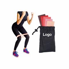 custom logo circular resistance band booty band set  Fitness bands