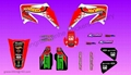 Hot wheel graphic dirt bike sticker kit for CRF450