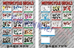 Sticker set collect for CRF50 motorycles