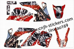 Mad hatter CRF50 sticker set