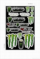PVC mototcycle sticker sheet Vinyl Sticker sheet One industry sticker sheet