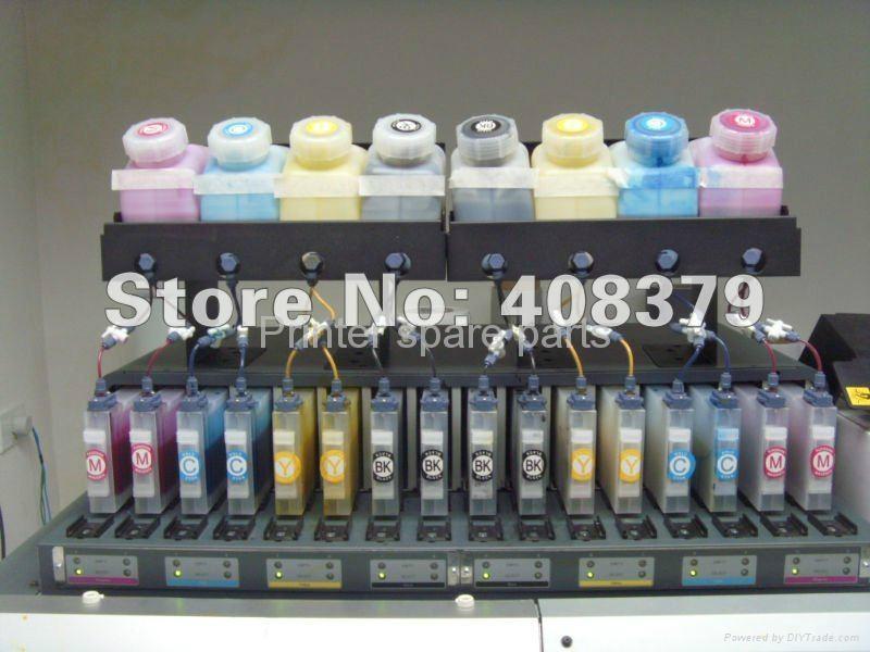Bulk Ink System for Roland RE-640 With Vertical Cartridge-4 Bottles,4 Cartridges