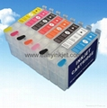 Refillable ink cartridge with ARC chip