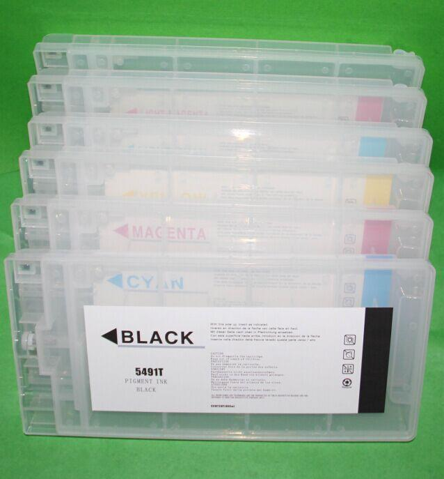 refillable ink cartridge with chip for Epson 10000 10600 printer 1