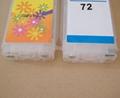 72 refillable cartridge for HP T610/T1100/T1120 printer