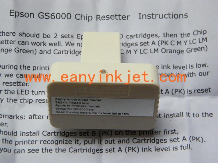 GS6000 resetter for Epson GS6000 ink cartridge chip resetter 6
