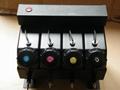 4 color UV bulk ink system with sensor without cartridge for Flat UV ink printer