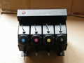 4 color UV bulk ink system with sensor without cartridge for Flat UV ink printer