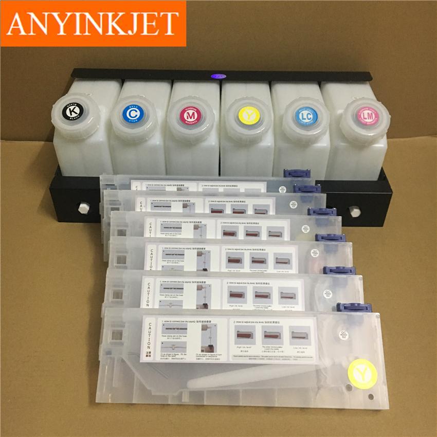六色供墨系統用於羅蘭Roland 武藤Mutoh 御牧Mimaki 寫真機/大幅面打印機 8