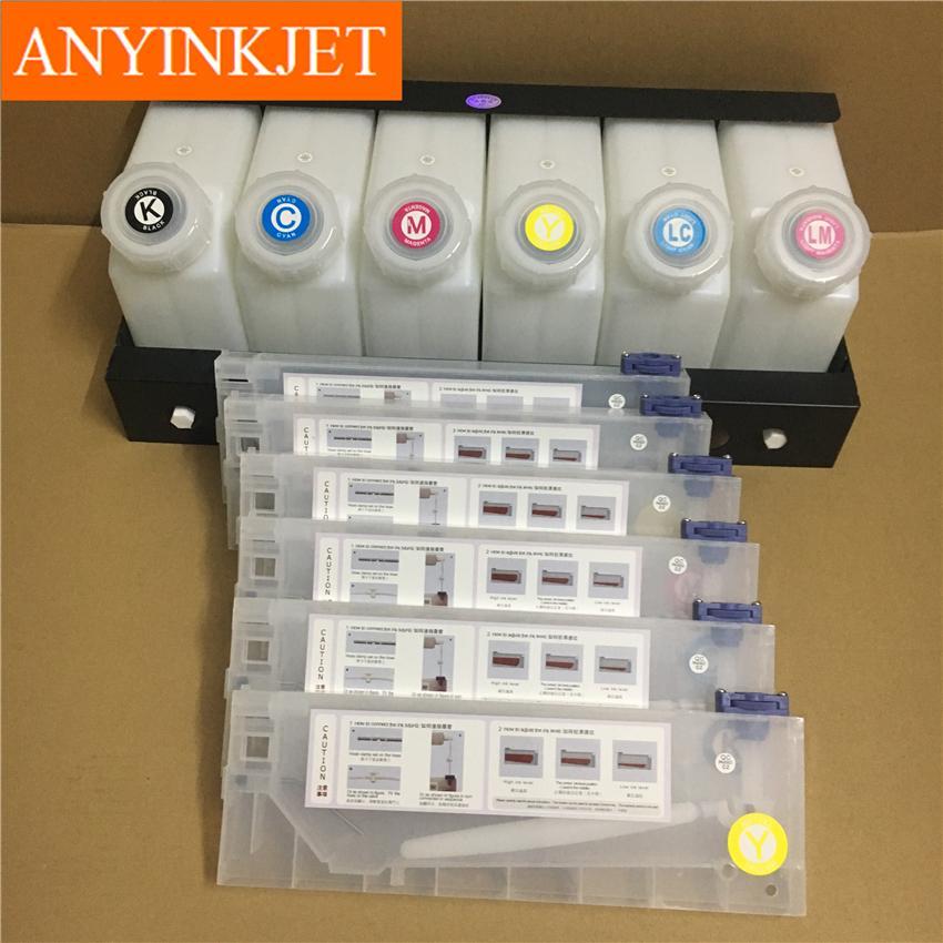 六色供墨系统用于罗兰Roland 武藤Mutoh 御牧Mimaki 写真机/大幅面打印机 11
