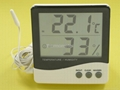 Large LCD Digital indoor and ourdoor thermometer & Hygrometer with CE approval 1