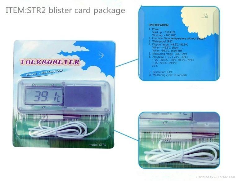 Solar Digital fridge thermometer  2