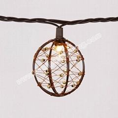 Party String Lights-Decorative Beaded Copper Wire Ball string light 10ct